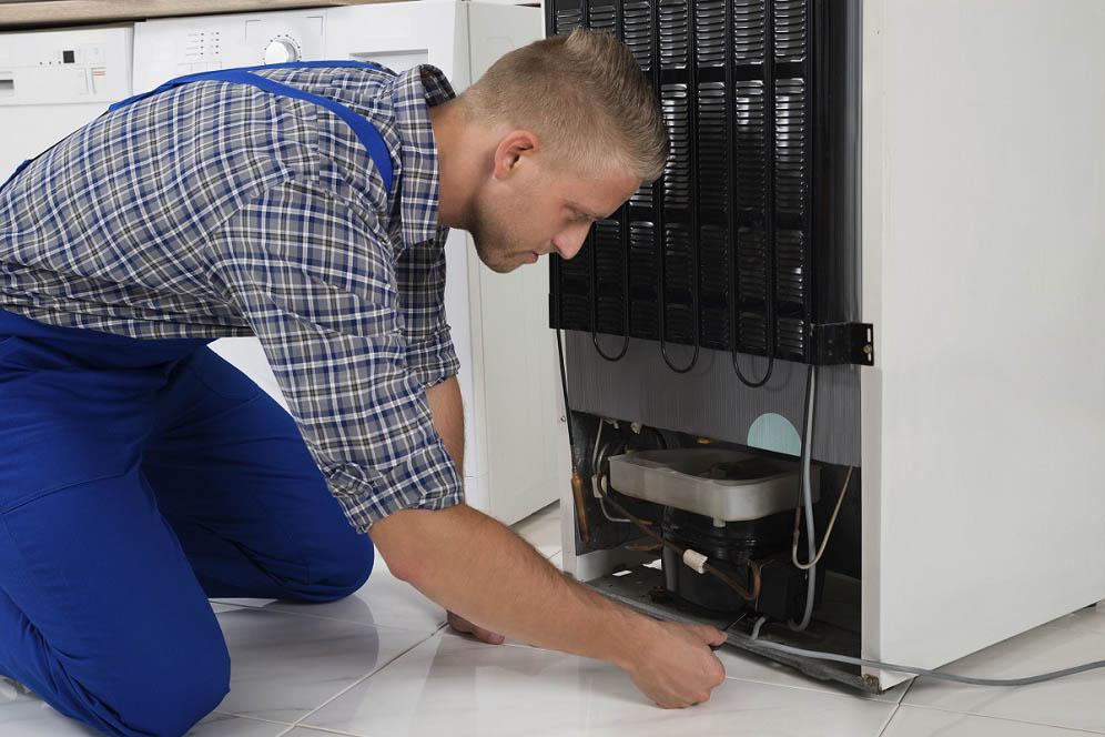 experto analizando falla técnica en refrigerador